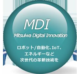 MDI Mitsuiwa Digital Innovation ロボット/自動化、IoT、エネルギーなど次世代の各新技術を