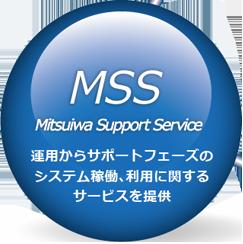 MSS Mitsuiwa Support Service 運用からサポートフェーズのシステム稼働、利用に関するサービスを提供