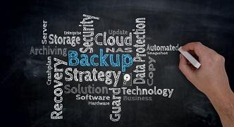 Backup Cloud is written by hand on blackboard.