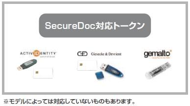 SecureDoc対応トークンイメージ図